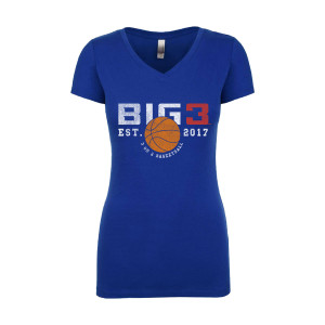 BIG3 EST 2017 BLUE JUNIOR'S T-SHIRT
