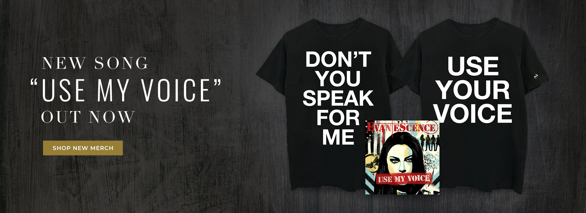New song Use My Voice out now. Shop new merchandise.