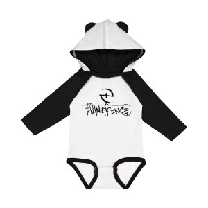 Crayon Logo Hooded Onesie