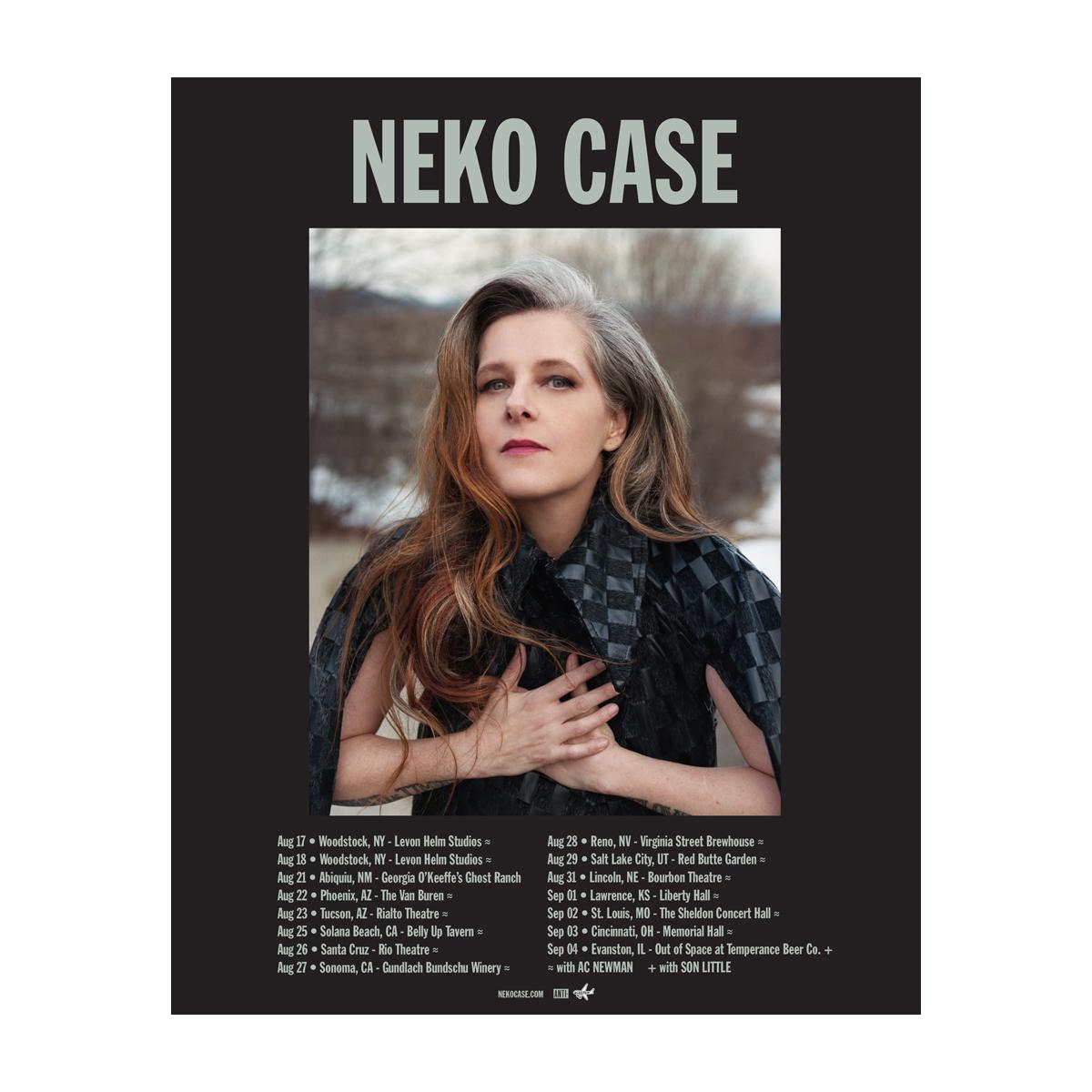 Neko Case 2021 Tour Poster