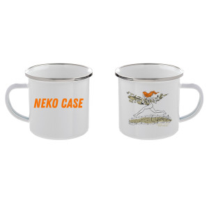 Neko On The Run 12 oz. Enamel Mug
