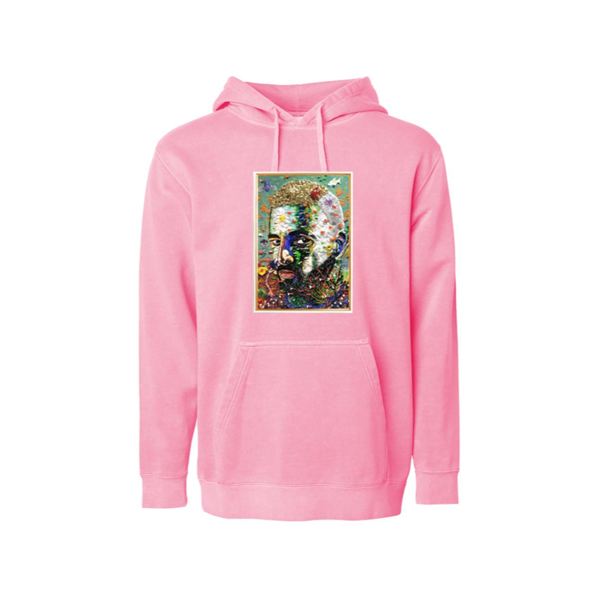 #7DJ Portrait Pink Hoodie