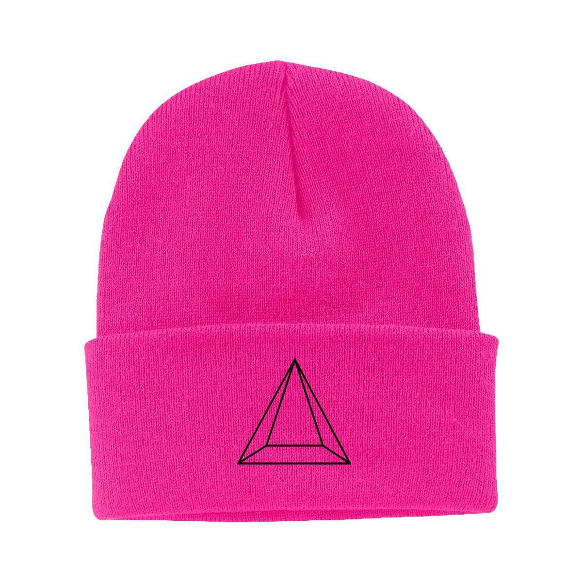 Maluma Pyramid Neon Pink Beanie