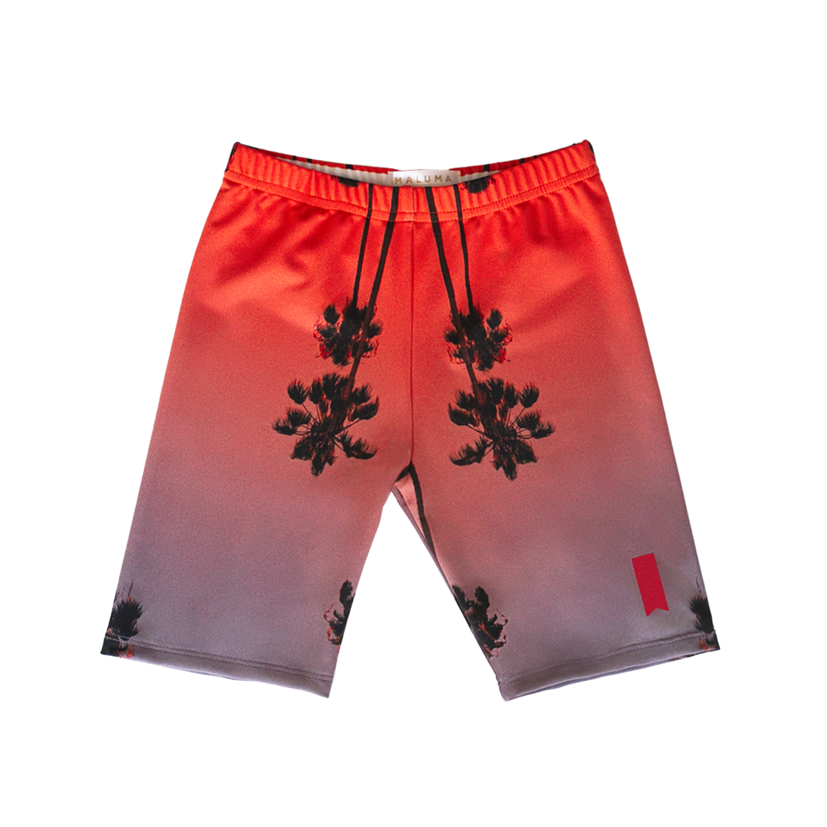 Palm Pink Premium Biker Shorts