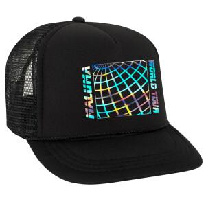 Maluma Iridescent Foil Black Trucker Hat
