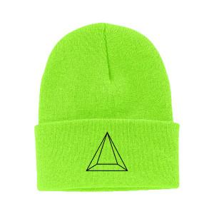Maluma Pyramid Neon Green Beanie