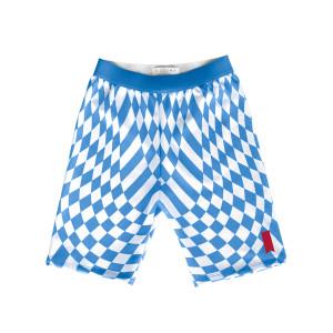 South Beach Checkered Biker Shorts