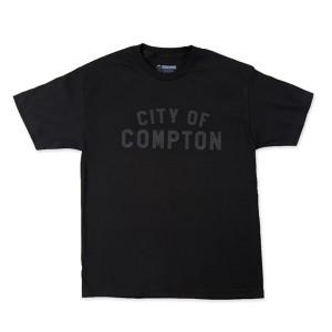 Black on Black City of Compton T-Shirt