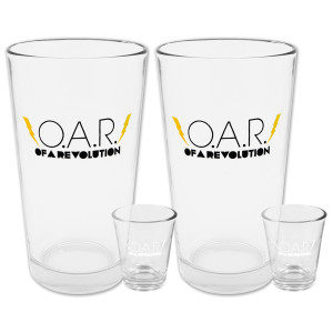 O.A.R. Lightning Bolt Pint & Shot Glass Bundle (Set of 2)