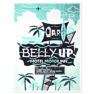 O.A.R. Extended Stay Tour - Belly Up Motel, Motor Inn Poster