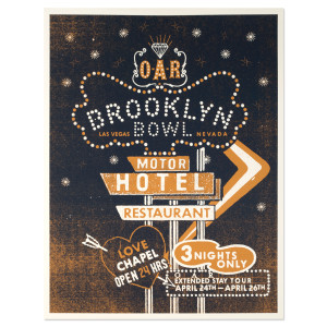 O.A.R. Extended Stay Tour - Brooklyn Bowl Las Vegas Poster