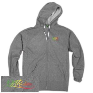 O.A.R. Rasta Men's Zip Grey Hoodie