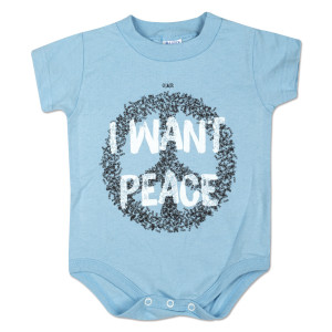 "O.A.R. ""I Want Peace"" Onesie - Baby Blue"