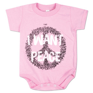 "O.A.R. ""I Want Peace"" Onesie - Pink"
