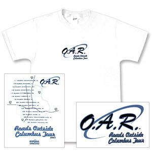 O.A.R. Roads Outside Columbus 2003 Tour T-Shirt - First Leg
