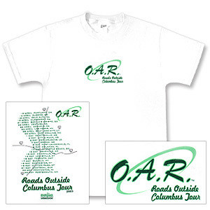 O.A.R. Roads Outside Columbus 2003 Tour T-Shirt - Second Leg