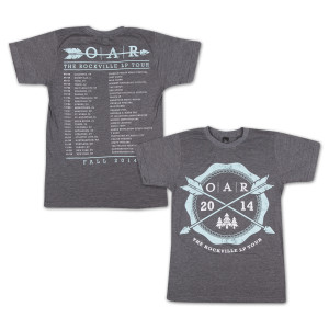 O.A.R. The Rockville LP 2014 Tour T-Shirt - Light Gray