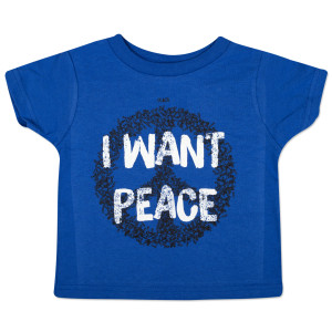 "O.A.R. ""I Want Peace"" Youth T-Shirt - Blue"