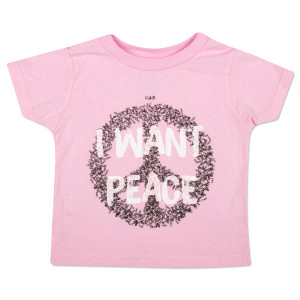 "O.A.R. ""I Want Peace"" Youth T-Shirt - Pink"