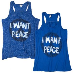 OAR Ladies I Want Peace Tank