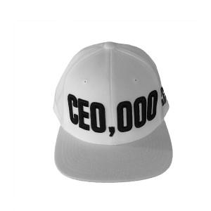 $CE0,000 Snapback Hat [White]