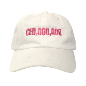 $CE0,000,000 Dad Hat [Pink/White]