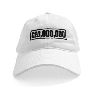 $CE0,000,000 Box Dad Hat [White]