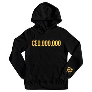 $CE0,000,000 Gold Print Hoodie [Black]