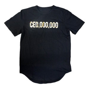 $CE0,000,000 Gold Print Elongated T-Shirt [Black]
