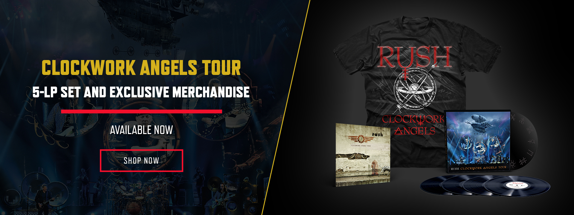 CLOCKWORK ANGELS TOUR - 5LP VINYL SET