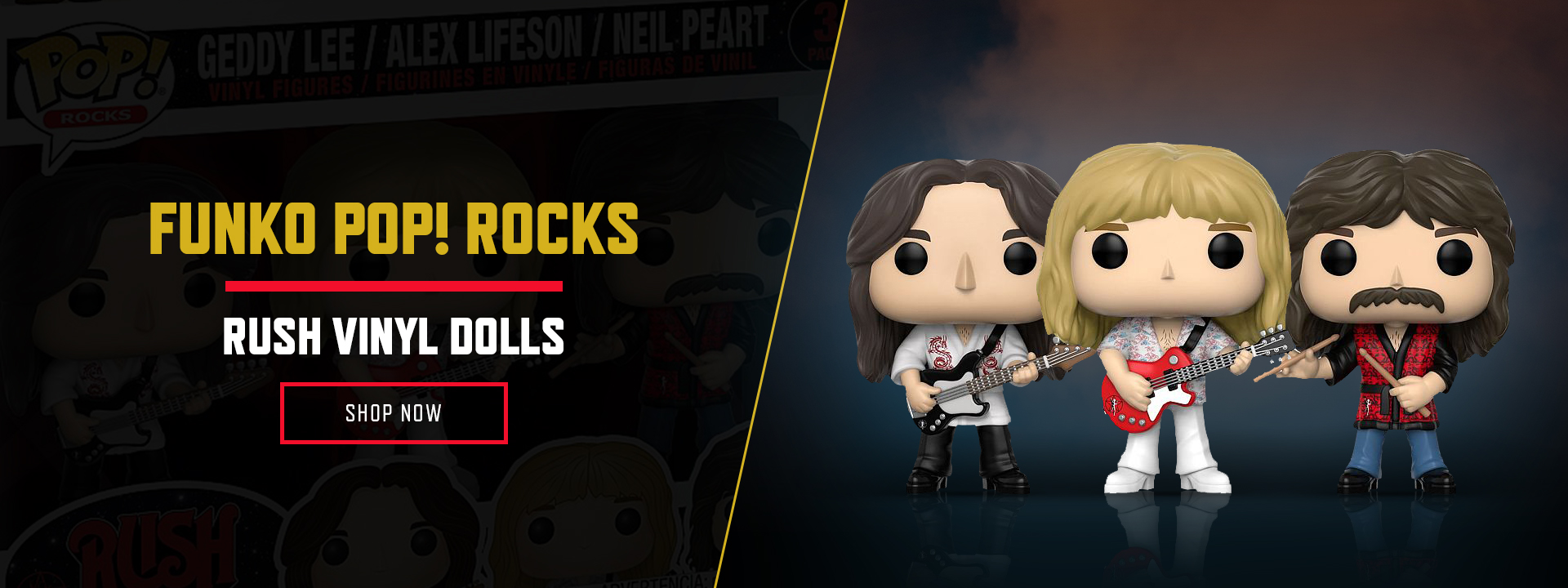 FUNKO POP ROCKS - RUSH VINYL DOLLS