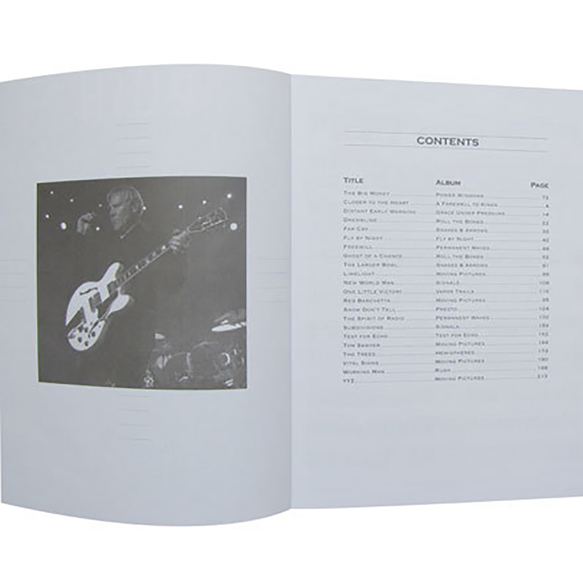 RUSH Moving Pictures Guitar Tab