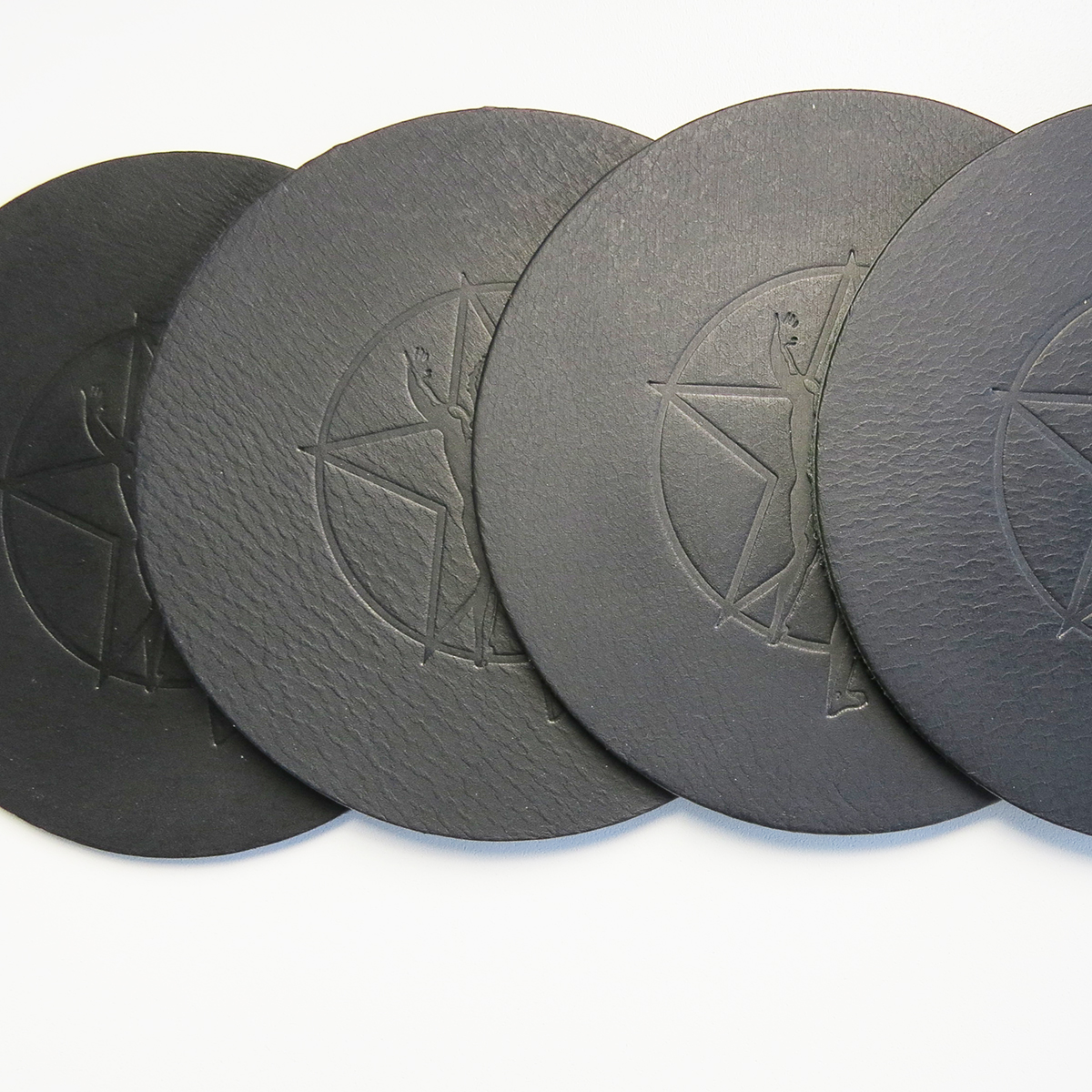 Rush Leather Coasters