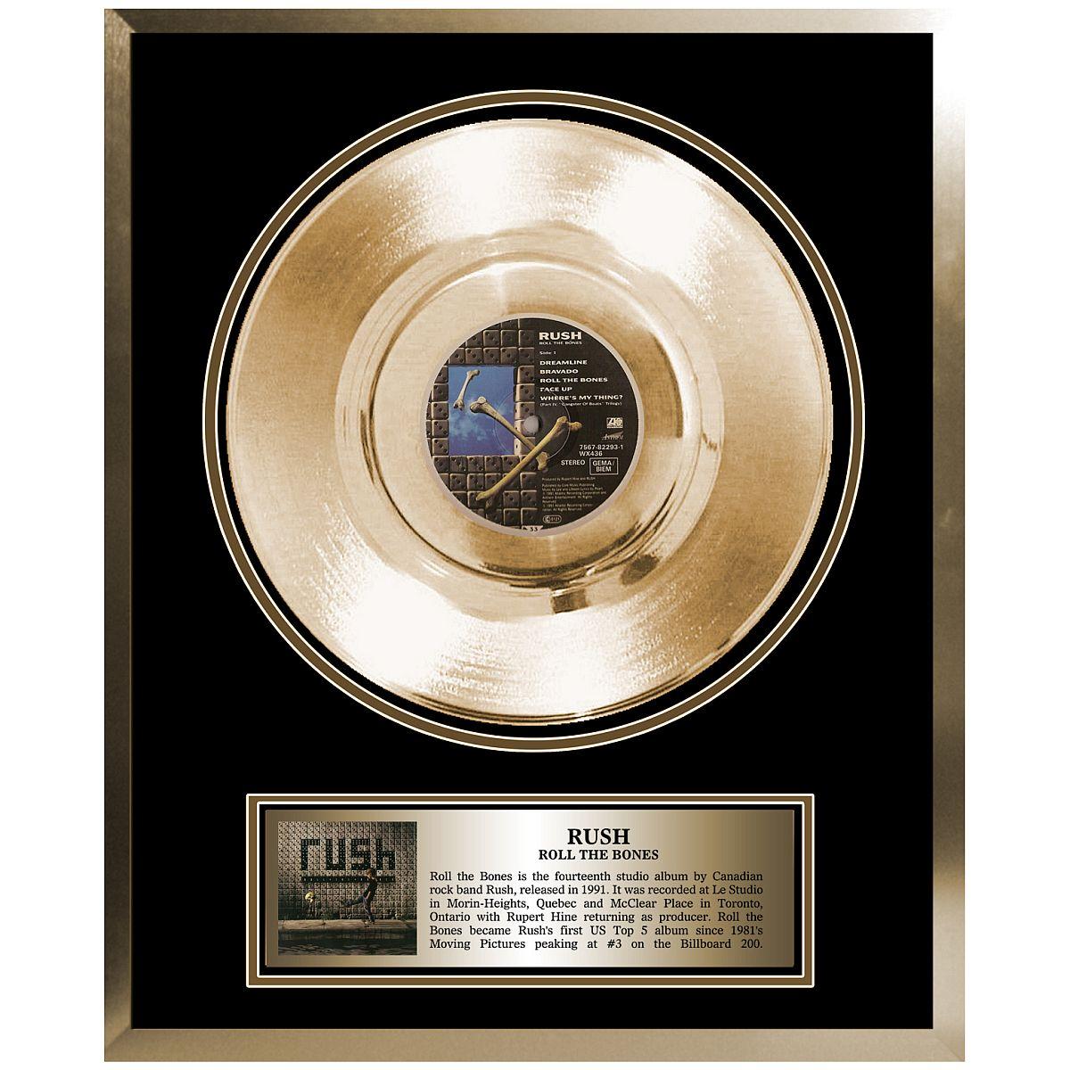 Rush Framed Gold Album Roll the Bones
