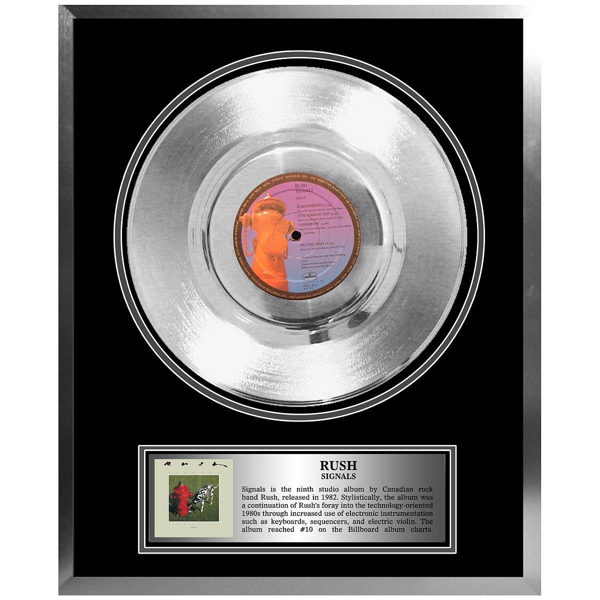 Rush Framed Platinum Album Signals