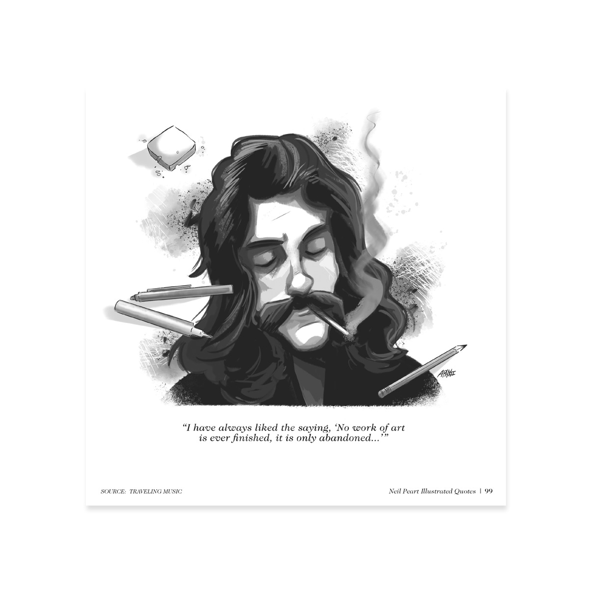 Neil Peart - The Illustrated Quotes Book