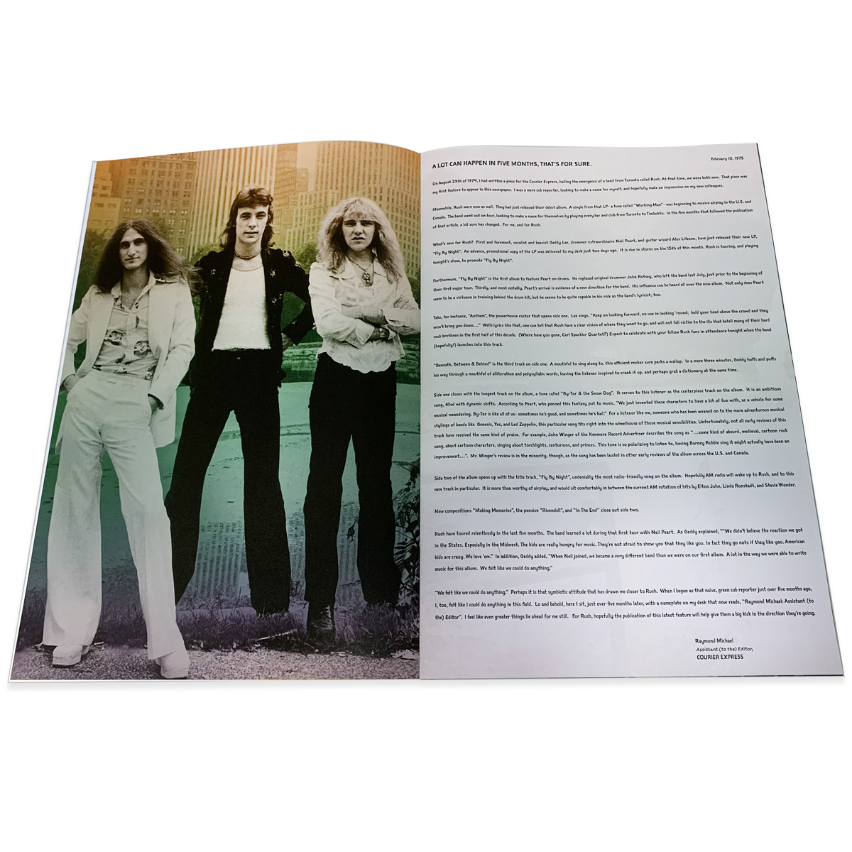 Fly By Night Tourbook