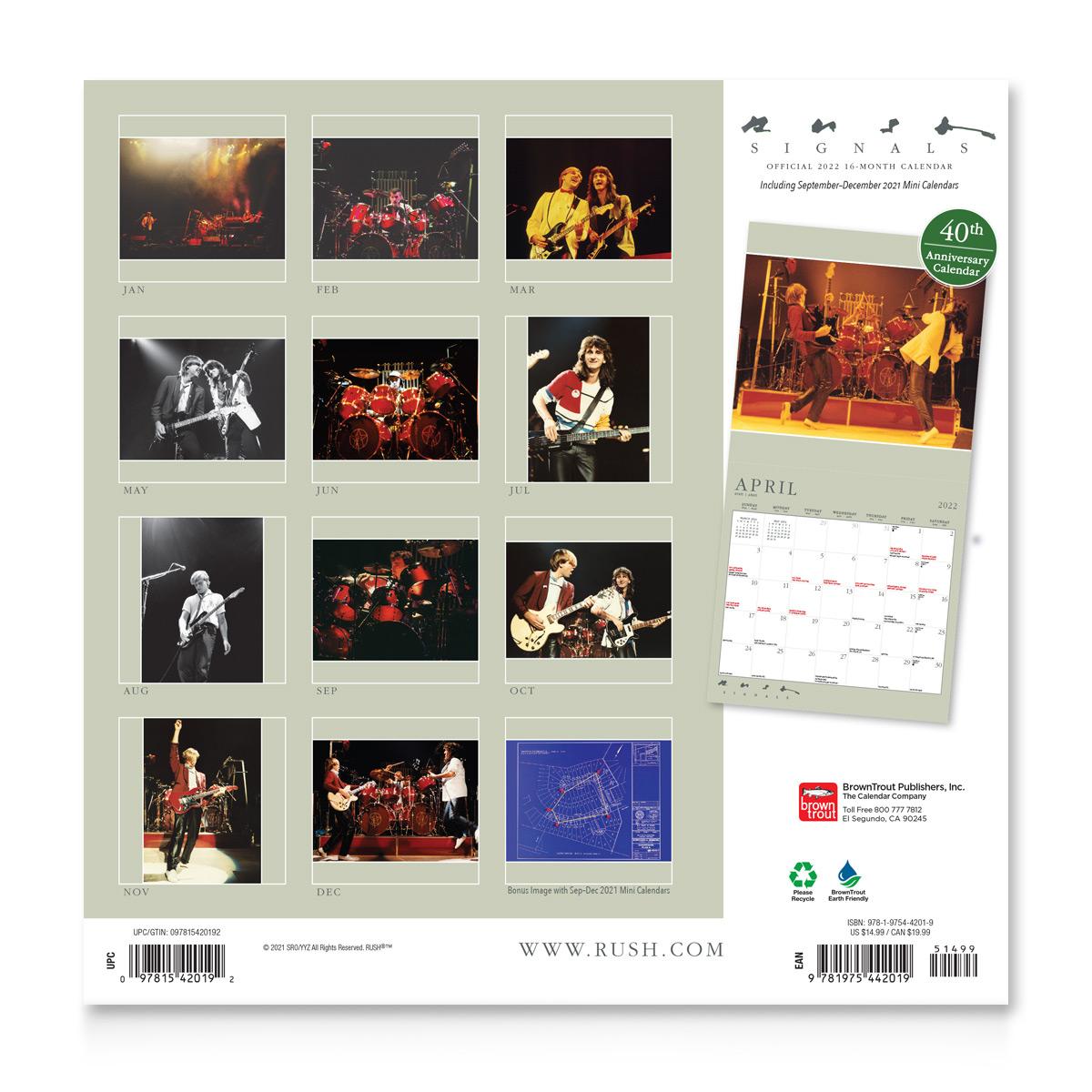 Rush 2022 Calendar