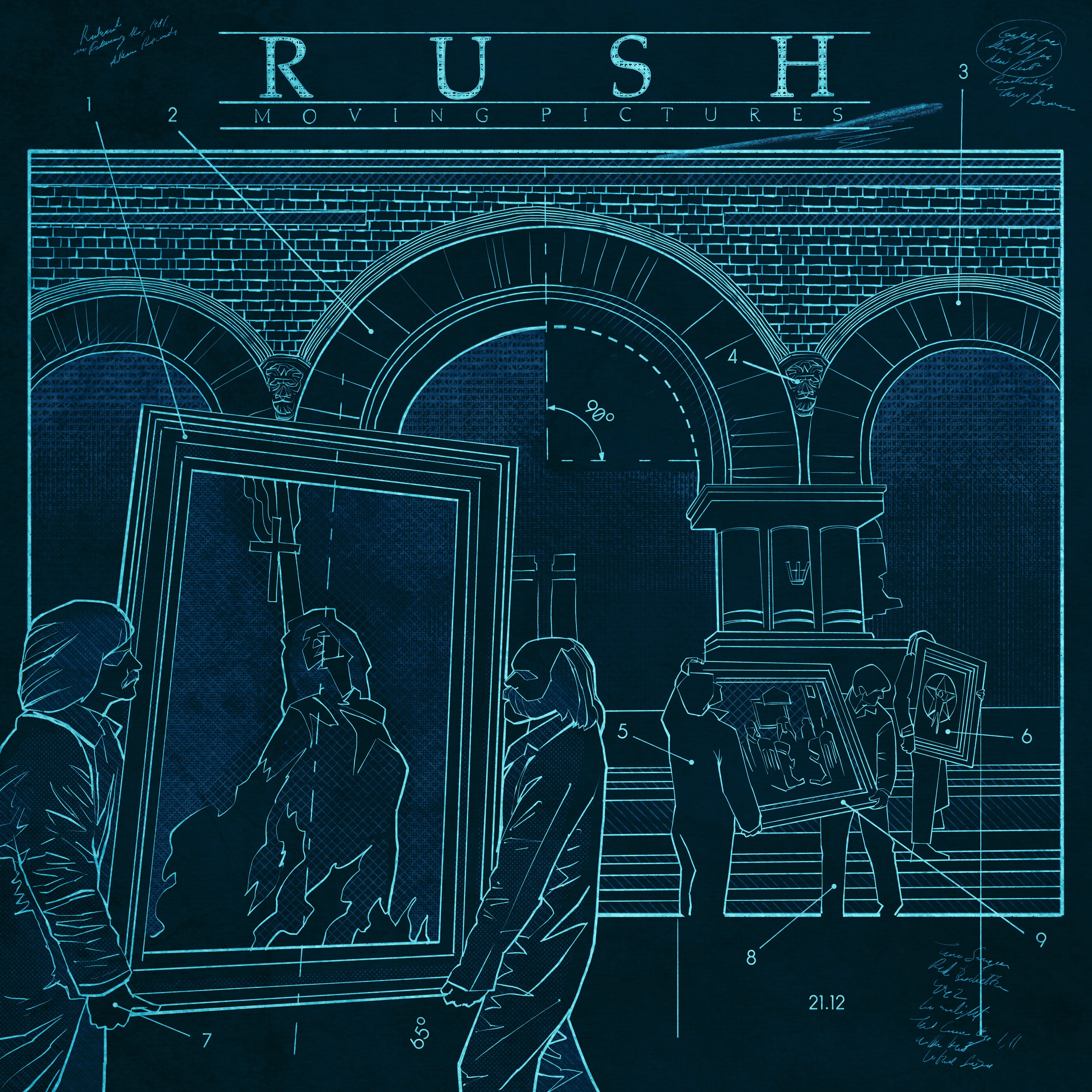 Rush Moving Pictures Blackprint