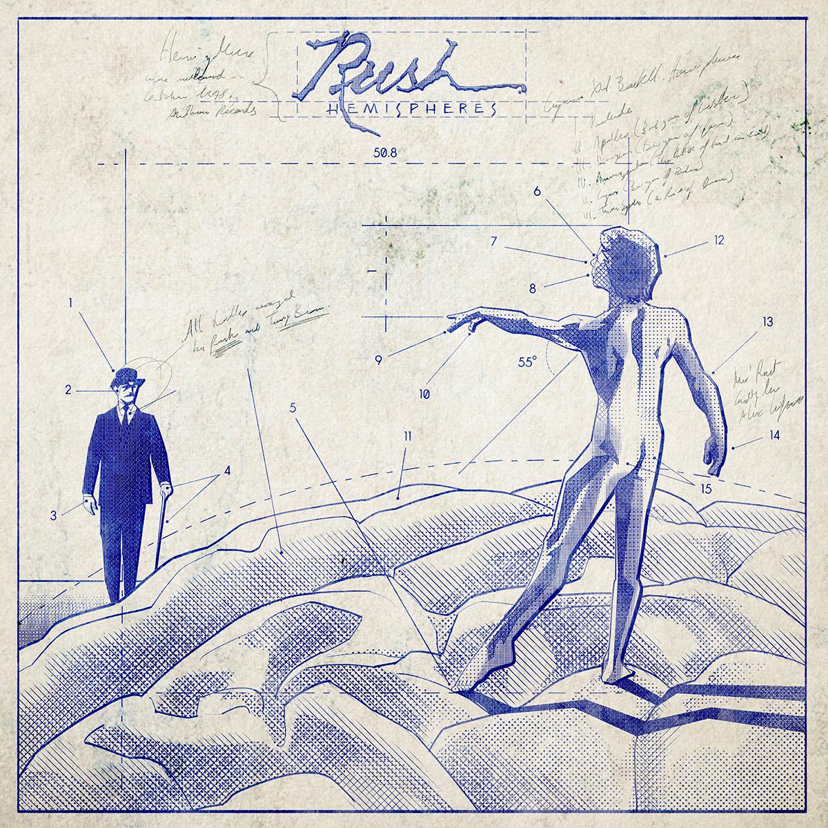 Rush Hemispheres Blueprint