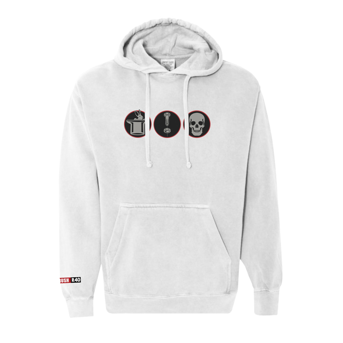 R40 Washed Tri-Logo Hoody