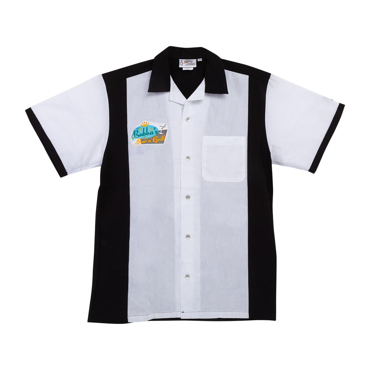 Bubba's Black & White Bowling Shirt
