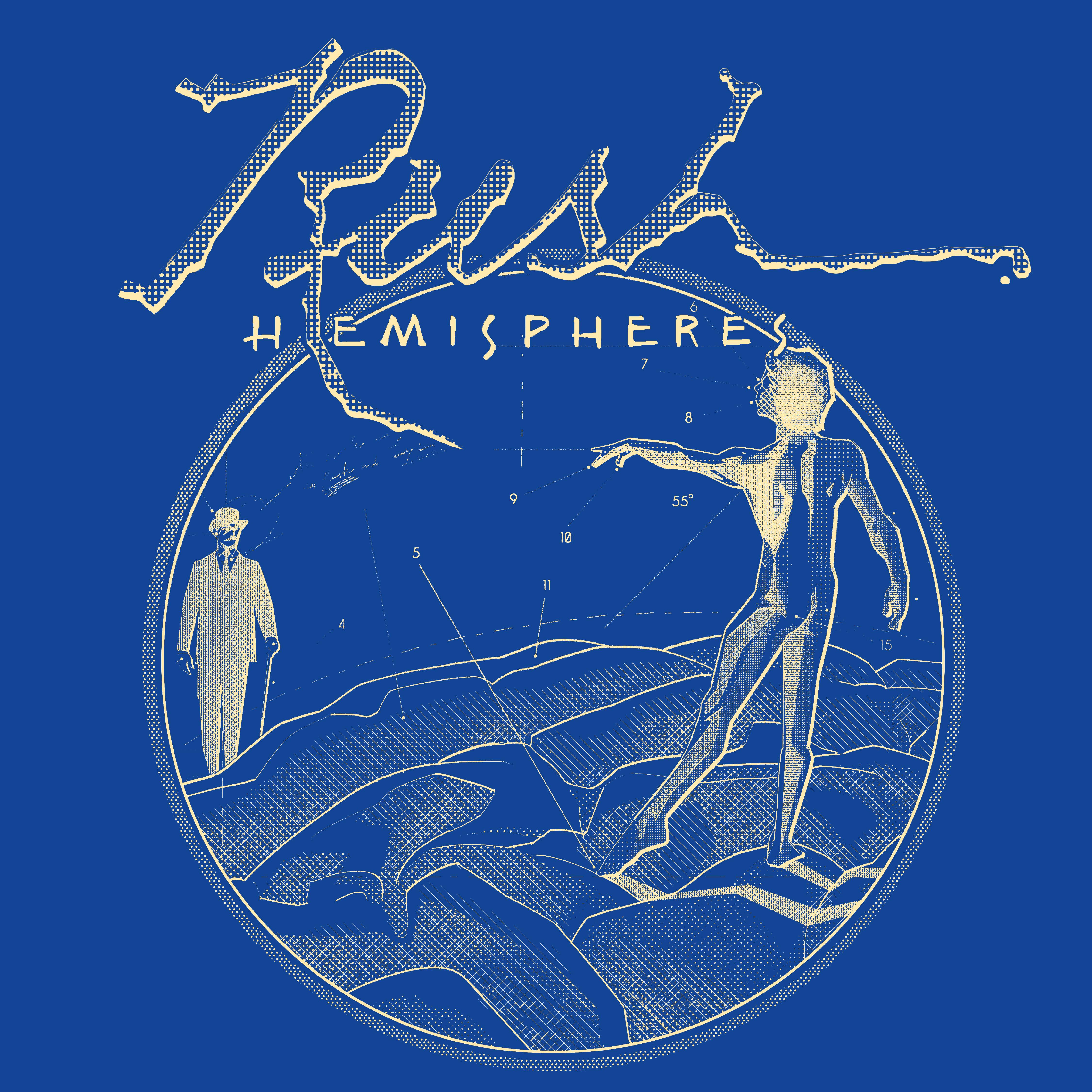 Hemispheres Blueprint Tee