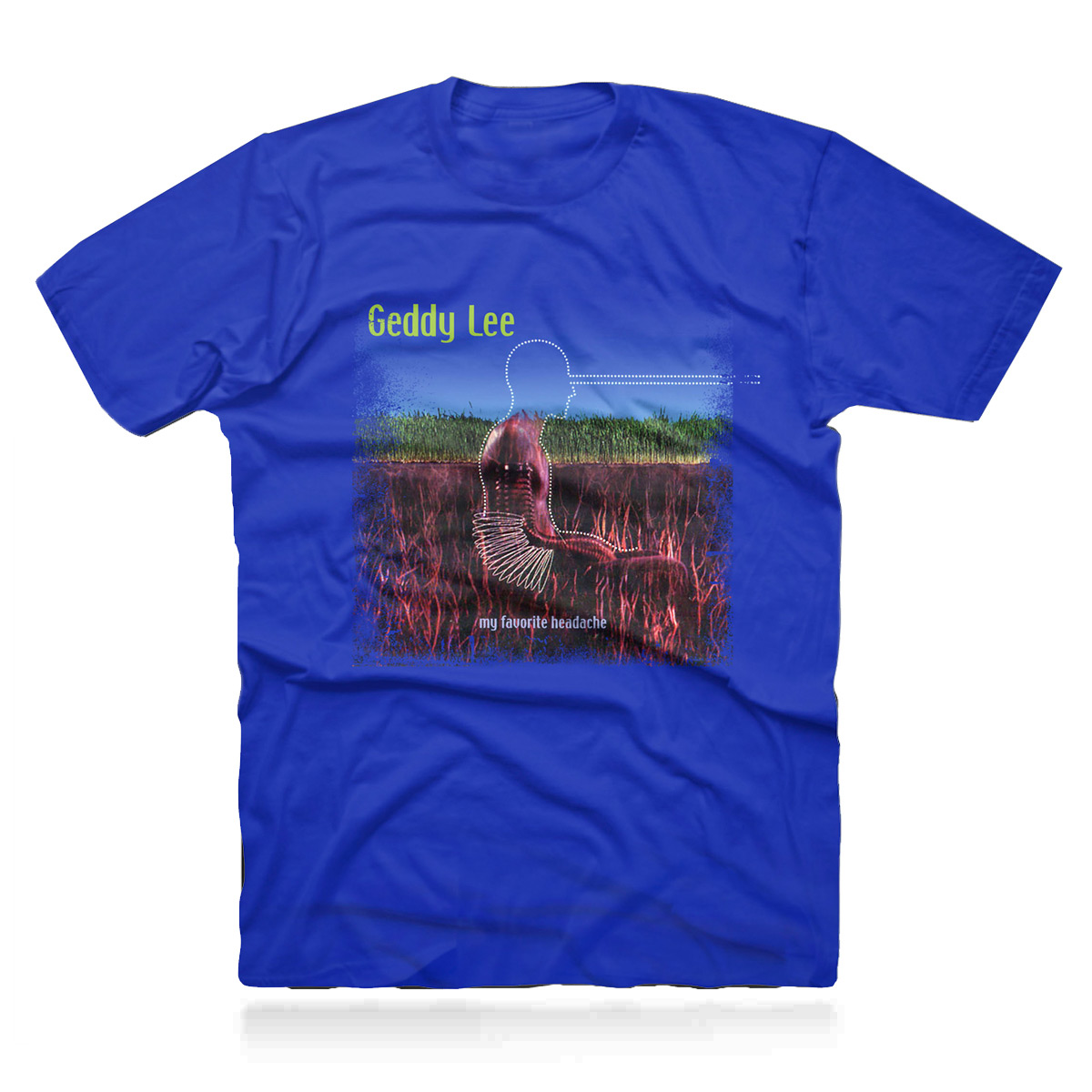 Geddy Lee Favorite Blue Tee
