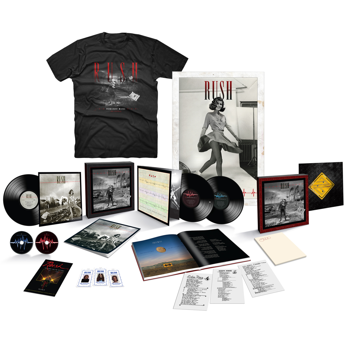 Permanent Waves 40th Anniversary Super Deluxe Box Set + Permanent Waves 40th Anniversary Tee