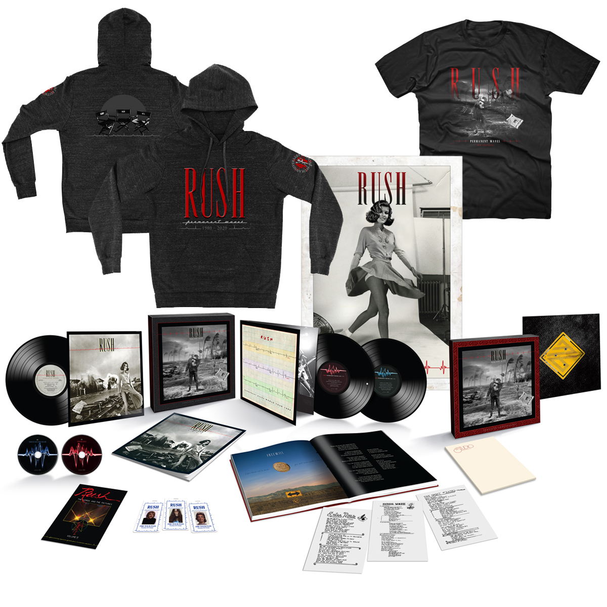 Permanent Waves 40th Anniversary Super Deluxe Box Set + Permanent Waves 40th Anniversary Hoody + Permanent Waves 40th Anniversary Tee