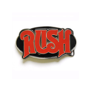 Rush Red Oval Belt Buckle
