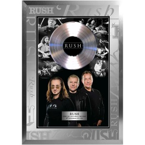 Rush Framed B/W Photo Collage with Platinum LP