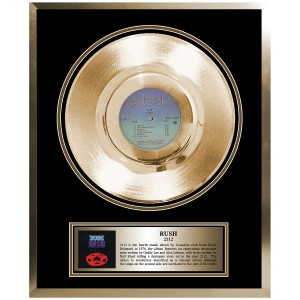 Rush Framed Gold Album 2112