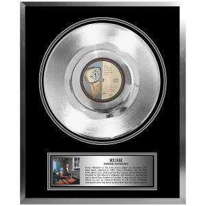 Rush Framed Platinum Album Power Windows